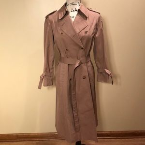 London Fog Pink Trench Coat